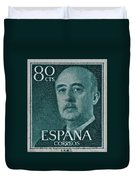 1955 General Franco Spanish Stamp Duvet Cover