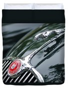 Jaguar Xk 150 Hood Ornament  Duvet Cover