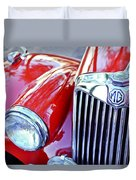 1955 Mg Tf 1500 Grille Duvet Cover
