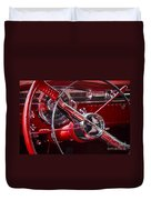 1955 Oldsmobile Dash Duvet Cover