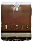 1955 Packard 400 Hood Ornament Duvet Cover