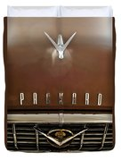 1955 Packard 400 Hood Ornament Duvet Cover