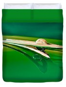 1955 Packard Clipper Hood Ornament 3 Duvet Cover