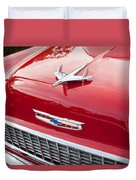 1955 Red Chevy Duvet Cover