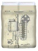 1955 Rocket Launcher Patent Drawing Duvet Cover