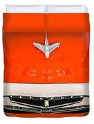 1955 Studebaker Champion Conestoga Custom Wagon Hood Ornament - Grille Emblem -0325c Duvet Cover