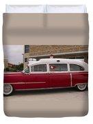1955 Superior Cadillac Passenger Ambulance Duvet Cover
