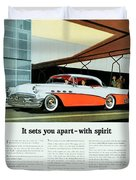 1956 - Buick Roadmaster Convertible - Advertisement - Color Duvet Cover