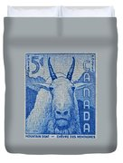 1956 Canada Mountain Goat Stamp Duvet Cover
