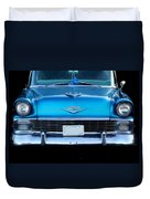 1956 Cheverolet In Blue Duvet Cover
