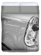1956 Chevrolet 210 2-door Handyman Wagon Taillight Emblem -074bw Duvet Cover