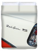1956 Chevrolet Belair Coupe Taillight Duvet Cover
