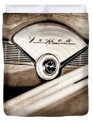 1956 Chevrolet Belair Nomad Dashboard Emblem Duvet Cover