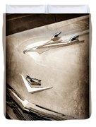 1956 Chevrolet Hood Ornament - Emblem Duvet Cover