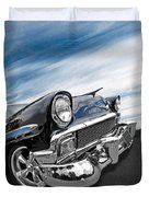 1956 Chevrolet With Blue Skies Duvet Cover