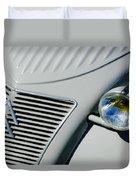 1956 Citroen 2cv Grille -0081c Duvet Cover