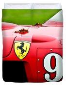 1956 Ferrari 410 Sport Scaglietti Spyder Duvet Cover