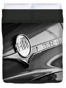 1956 Ford F-100 Pickup Truck Emblem Duvet Cover