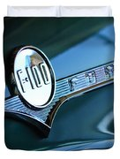 1956 Ford F-100 Truck Emblem Duvet Cover