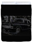 1956 Ford Neon Coupe Duvet Cover