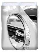 1956 Ford Thunderbird Latch -417bw Duvet Cover