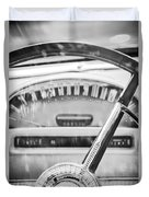 1956 Ford Thunderbird Steering Wheel -260bw Duvet Cover