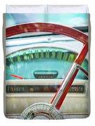 1956 Ford Thunderbird Steering Wheel -260c Duvet Cover