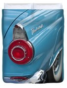 1956 Ford Thunderbird Taillight And Emblem Duvet Cover