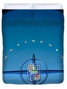 1956 Lincoln Continental Mark II Emblem Duvet Cover