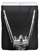 1956 Lincoln Premiere Convertible Hood Ornament 2 Duvet Cover
