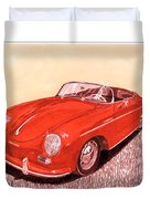 1956 Porsche 356 Cabriolet Duvet Cover