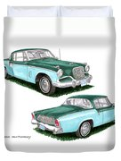 1956 Studebaker Coming And Going Duvet Cover
