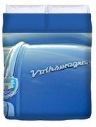 1956 Volkswagen Vw Bug Hood Emblem Duvet Cover