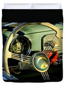 1956 Volkswagen Vw Bug Steering Wheel 2 Duvet Cover by Jill Reger