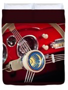 1956 Volkswagen Vw Karmann Ghia Coupe Steering Wheel 2 Duvet Cover