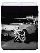 1957 Cadillac Duvet Cover