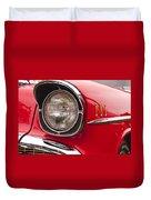 1957 Chevrolet Bel Air Headlight Duvet Cover