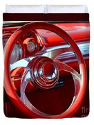 1957 Chevrolet Bel Air Steering Wheel Duvet Cover