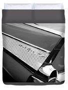 1957 Chevrolet Belair Convertible Taillight Emblem Duvet Cover