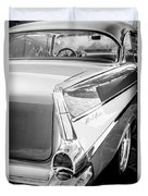 1957 Chevrolet Belair Coupe Tail Fin -019bw Duvet Cover