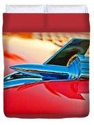 1957 Chevrolet Belair Hood Ornament Duvet Cover by Jill Reger