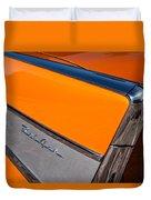 1957 Chevrolet Belair Rear Emblem -037c Duvet Cover