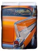 1957 Chevrolet Belair Taillight Emblem -019c Duvet Cover