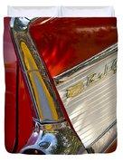1957 Chevrolet Belair Taillight Duvet Cover