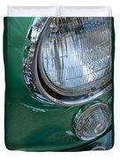 1957 Chevrolet Corvette Head Light Duvet Cover