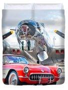 1957 Chevrolet Corvette Duvet Cover