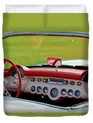 1957 Chevrolet Corvette Roadster Dashboard Duvet Cover