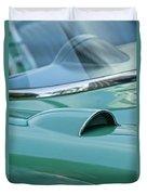 1957 Chevrolet Corvette Scoop Duvet Cover