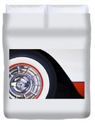 1957 Chevrolet Corvette Wheel Duvet Cover