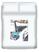 1957 Chevrolet Bel Air Art White Duvet Cover